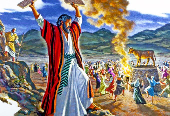 Resultado de imagen para En Horeb se hicieron un becerro, adoraron un ídolo de fundición